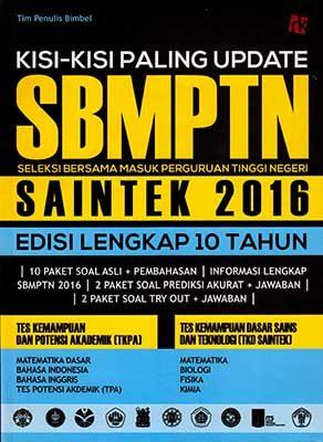 Kisi-kisi Paling Update SBMPTN Saintek 2016