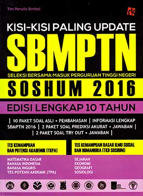 Kisi-kisi Paling Update SBMPTN Soshum 2016
