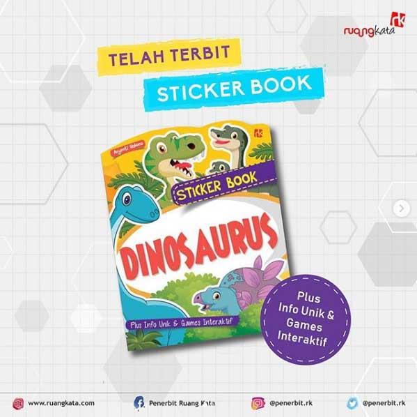 Telah Terbit Sticker Book Dinosaurus