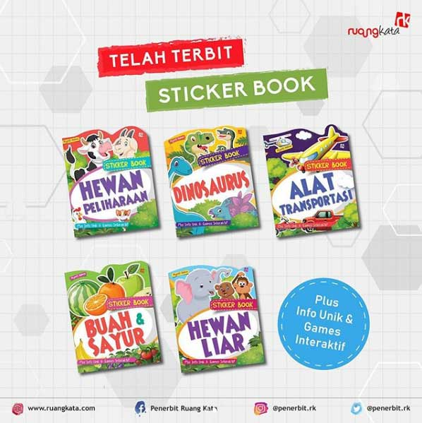 sticker book ruang kata